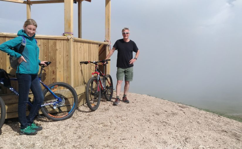 Bicycle trip to the top of the hill