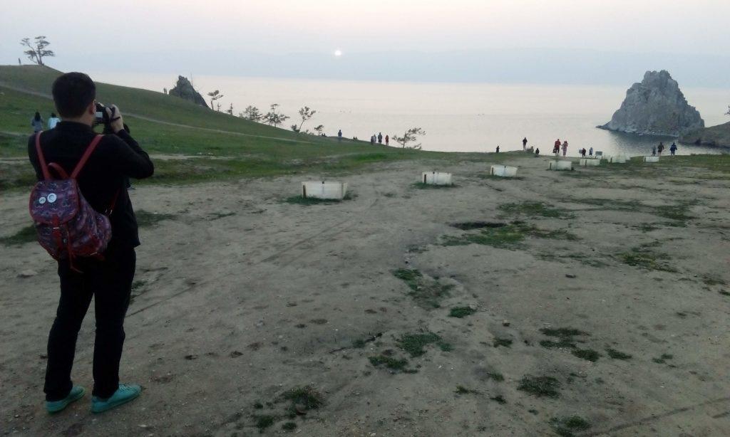 Cape Burkhan (Shamanka) on Olkhon Island near Khuzhir.