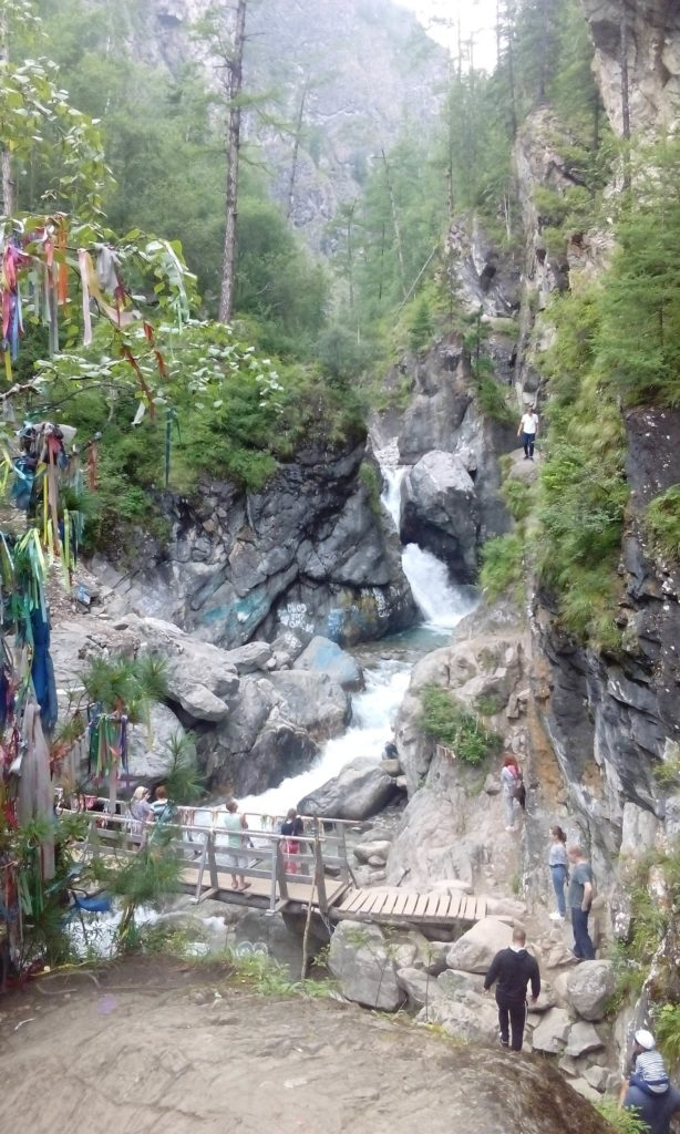 Waterfall near Arshan village.