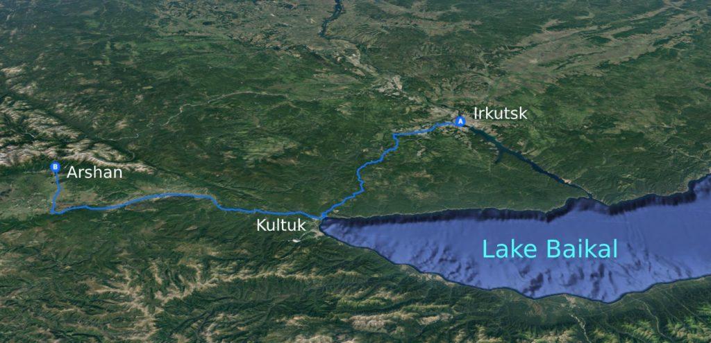 Road from Irkutsk to Arshan