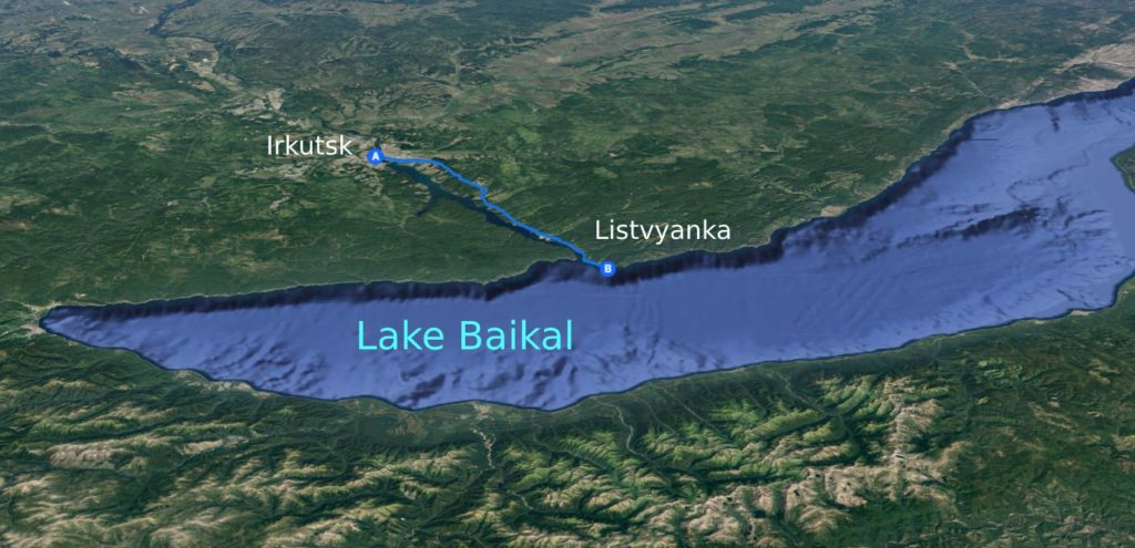 Road from Irkutsk to Listvyanka