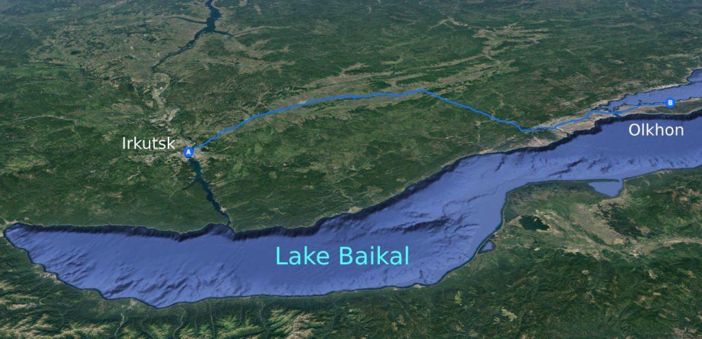 Road from Irkutsk to Olkhon Island